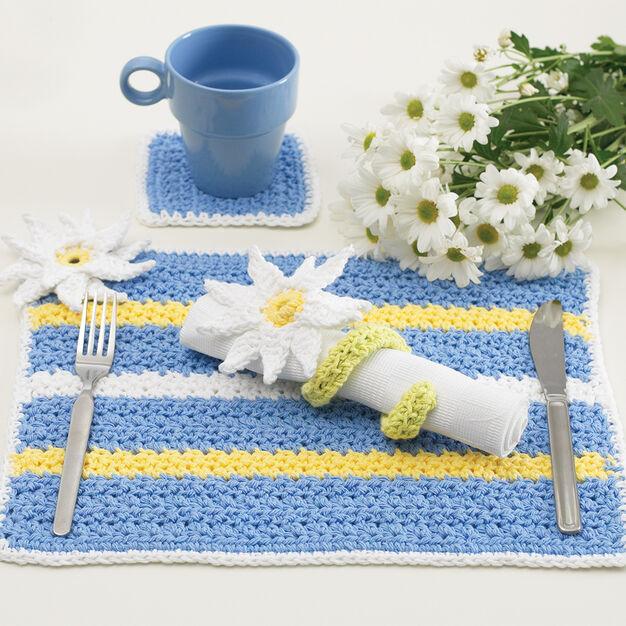 Lily Sugar'n Cream Daisy Table Setting, Napkin Rings