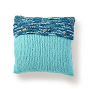 Bernat Button Up Knit Pillow