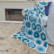 Go to Product: Red Heart Hexagon Blues Throw in color
