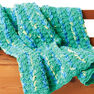 Bernat Bright and Easy Crochet Blanket in color