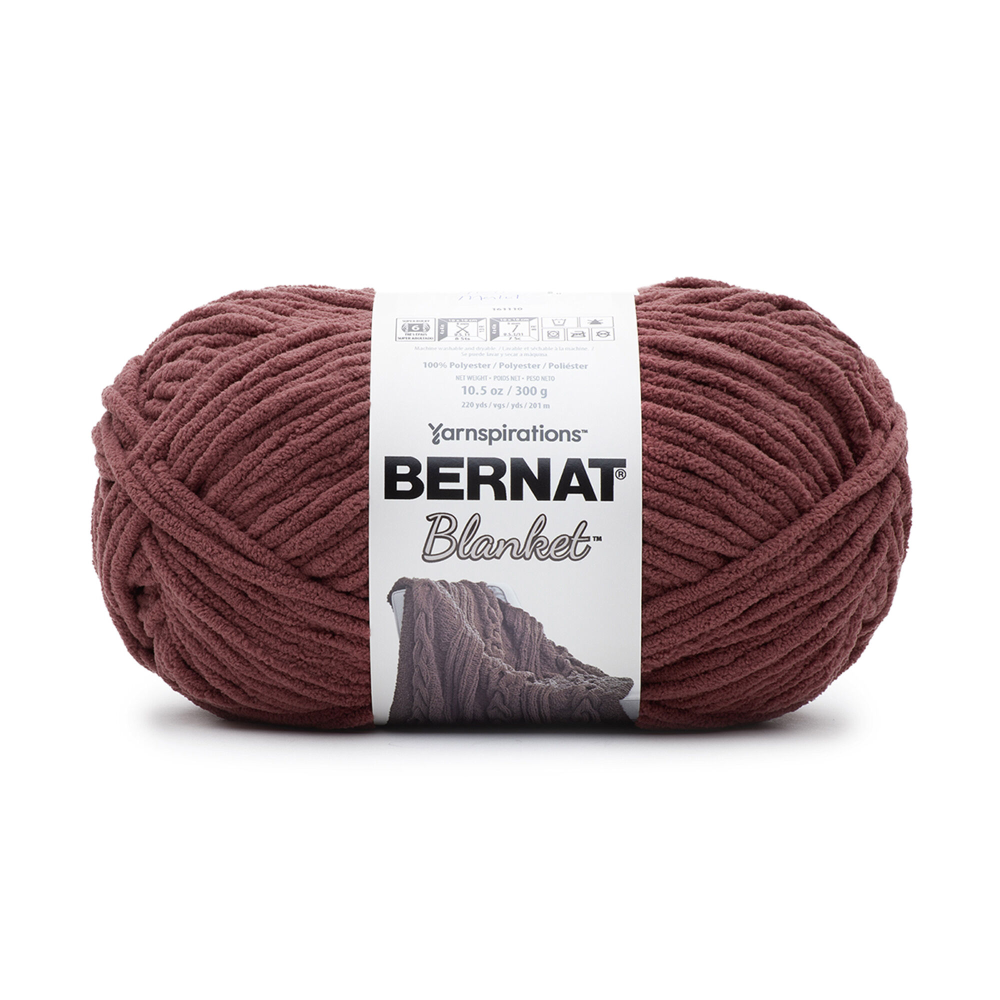 Bernat Blanket Yarn 10.5 oz in Tan Pink