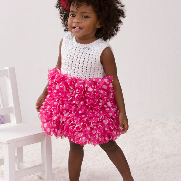 Red Heart Baby's Best Party Dress, 6 mos in color