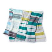Bernat Stacking Stripes Knit Blanket