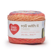 Go to Product: Red Heart Roll With It Tweed Yarn, Sunset in color Sunset