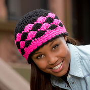 Red Heart Shells are Swell Beanie