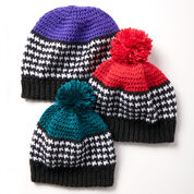 Go to Product: Caron Houndstooth Bright Hat, Red in color