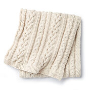 Bernat Braided Cables Knit Throw
