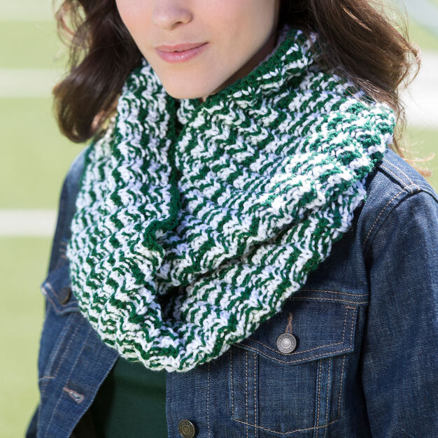 Red Heart Double Wrap Team Cowl in color