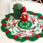 Aunt Lydia's Holly & Lace Doily