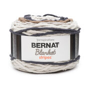 Go to Product: Bernat Blanket Stripes Yarn (300g/10.5 oz) in color Buffed Stone
