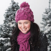 Bernat Snowdrift Cable Set, Hat & Scarf