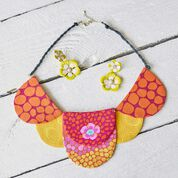 Dual Duty Colorful Fabric Necklace