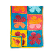 Bernat Pop Art Flowers Crochet Blanket