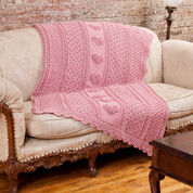 Go to Product: Red Heart Aran Hearts Throw in color
