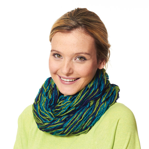 Caron Arm Knit Cowl in color