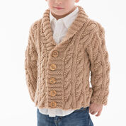 Red Heart Little Man Cable Cardigan, 2 yrs