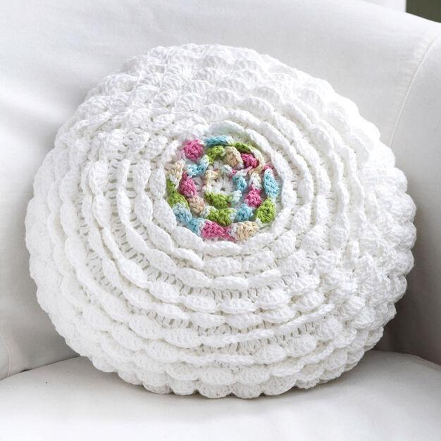 Bernat Ruffles Pillow in color