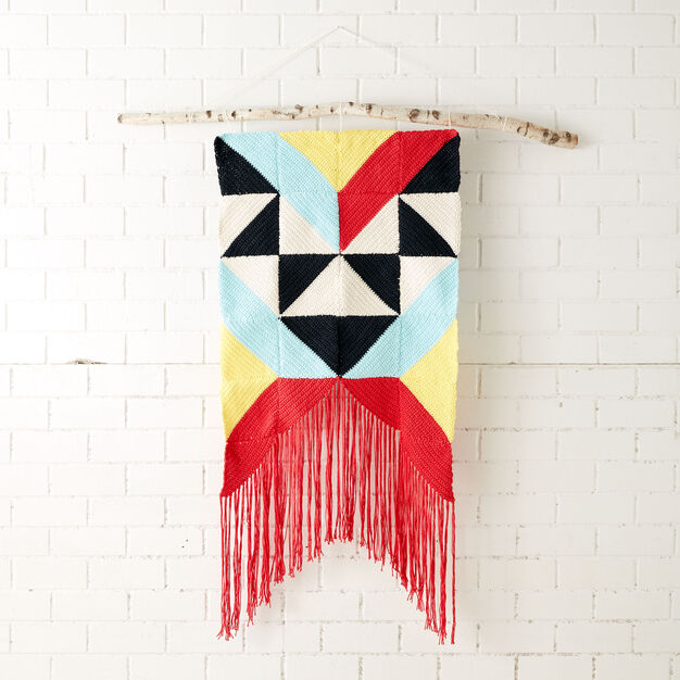 Lily Sugar'n Cream Geometric Wall Hanging in color