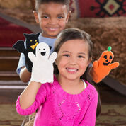Red Heart Halloween Puppets