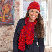 Go to Product: Red Heart Wavy Hat and Scarf in color