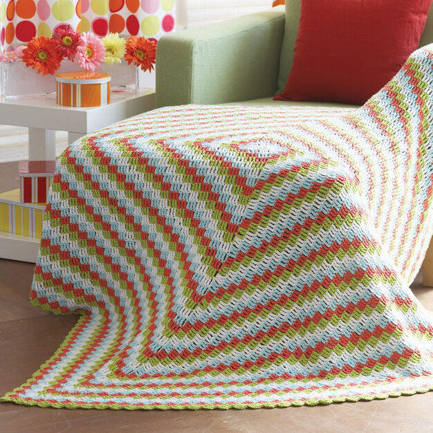 Lily Sugar 'n Cream Cottage Throw in color