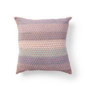Caron Mosaic Knit Grid Pillow