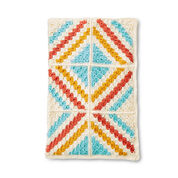 Caron Corner to Corner Crochet Motifs Blanket