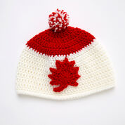 Red Heart Adult Maple Leaf Hat, S