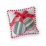 Dual Duty Ornament Applique Pillow