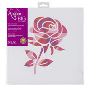 "Go to Product: Anchor Big Stitch Art 12"" x 12"" in color Rose"