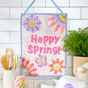 Dual Duty Happy Spring Banner Wall Hanging
