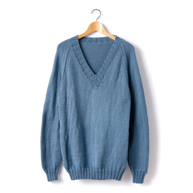 80e0f3f59 Caron Adult Knit V-Neck Pullover