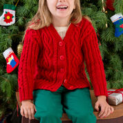 Red Heart Waiting for Santa Sweater, 2 yrs