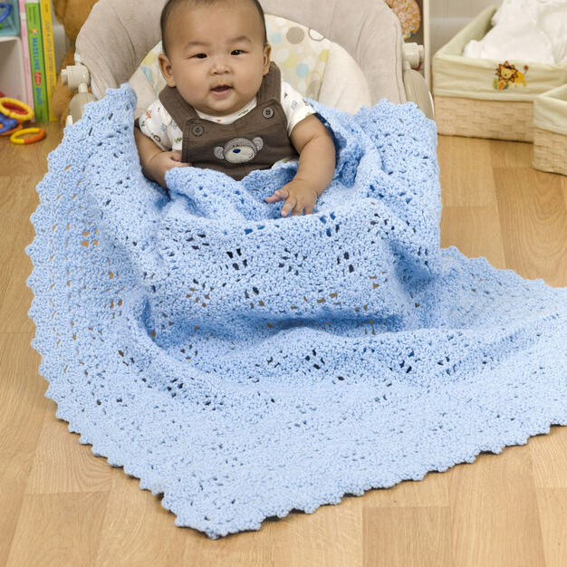 Red Heart Building Blocks Baby Blanket in color