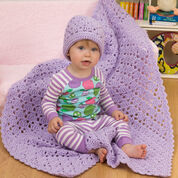Go to Product: Red Heart One Ball Baby Blanket and Hat in color