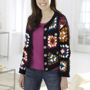 Red Heart Granny Square Jacket, S
