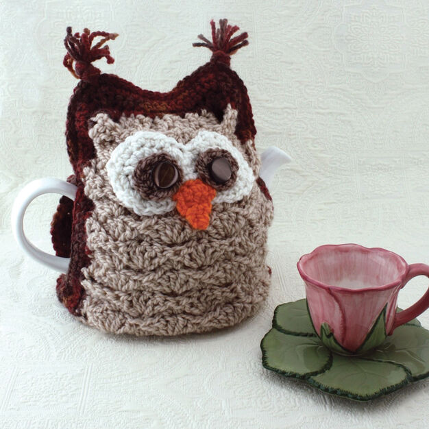 Patons Whoo Wants Tea Tea Cozy Yarnspirations