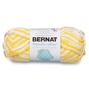 Bernat Handicrafter Cotton Ombres Yarn, Lemon Swirl Ombre