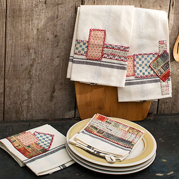 Coats & Clark Eclectic Embroidered Towels