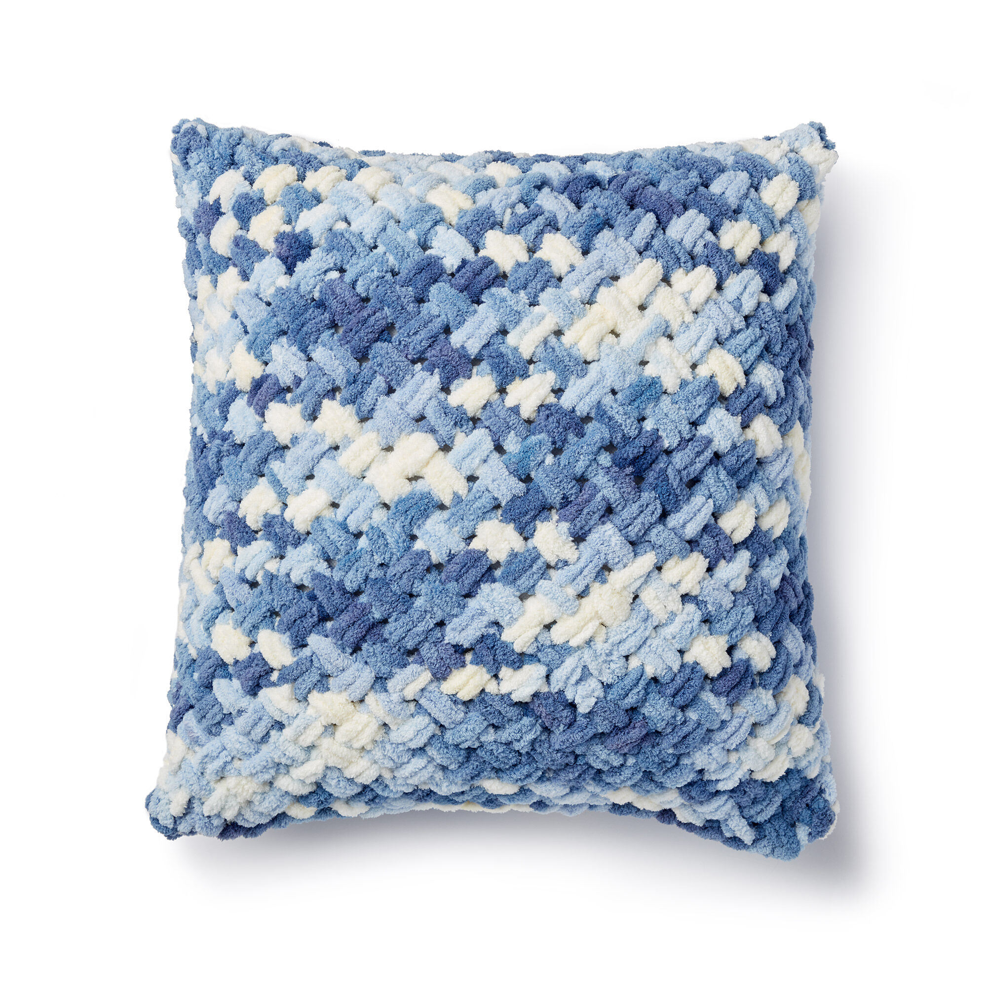 Bernat Alize Ez Criss Cross Pillow Pattern Yarnspirations