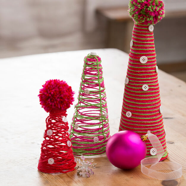 Red Heart DIY Cone Trees