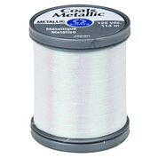 Coats & Clark Metallic Embroidery Thread 125 yds, Pearl (Metallic)