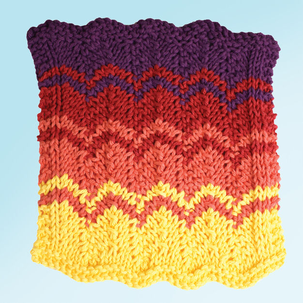 Lily Sugar'n Cream Sunset Strip Dishcloth in color
