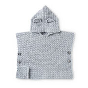 Go to Product: Bernat Teddy Bear Crochet Poncho, 6 mos in color