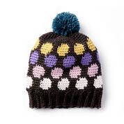 Caron x Pantone Polka-Dotty Crochet Hat