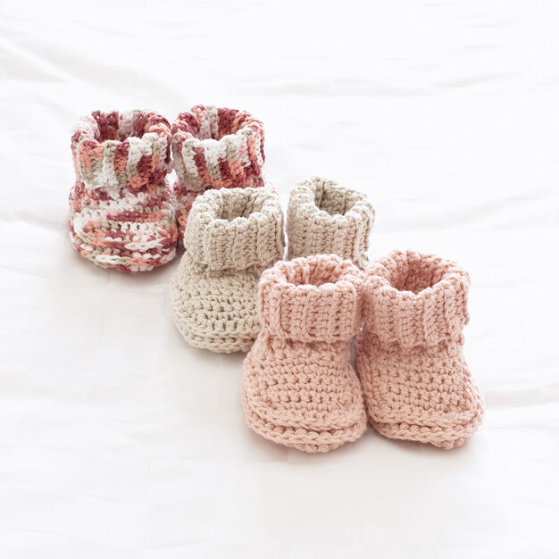 Bernat Baby's Booties, 3 mos in color