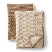 Caron Crochet Texture Lap Blanket