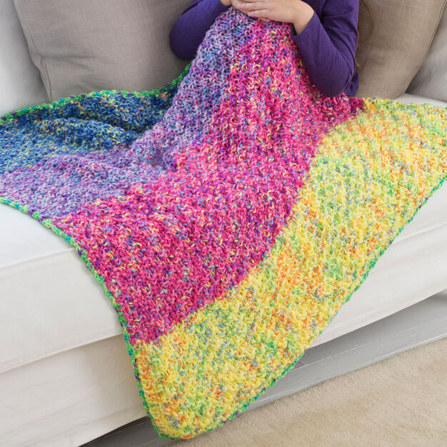 Red Heart Carry Along Cuddle Blanket in color