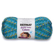 Bernat Softee Baby Colors Yarn, Teal Rainbow - Clearance Shades*