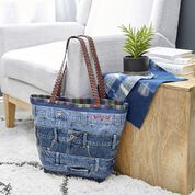 Go to Product: Dual Duty Band Together Denim Tote in color